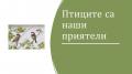 """""""Птиците са наши приятели"""" - група """"ПЧЕЛИЧКИ""""  - ДГ Райна Княгиня - Стамболийски"""